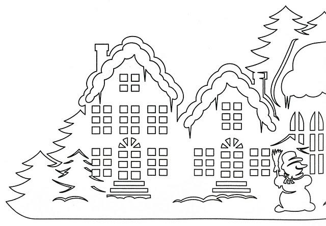 Новогодние домики из бумаги своими руками схемы