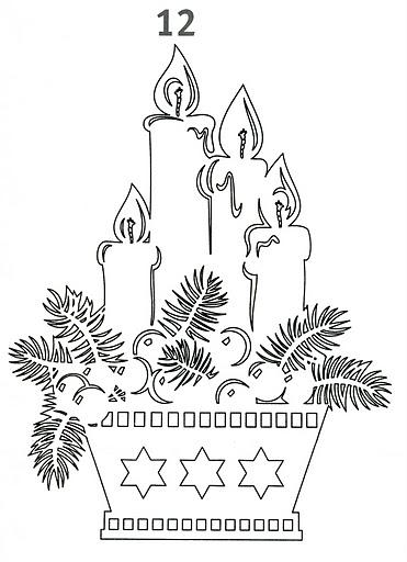 Вырезание, Вытынанка: Новогодние вытынанки + шаблоны Бумага Новый год.