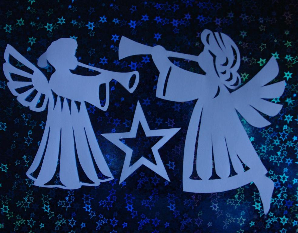 Рождественские ангелы шаблоны