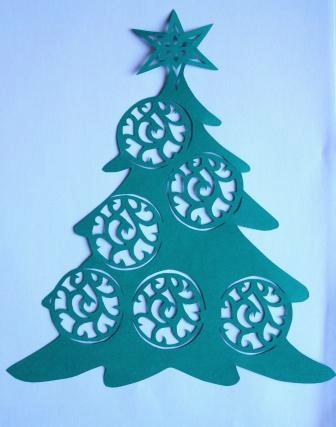 И рождественская елка — вытынанки