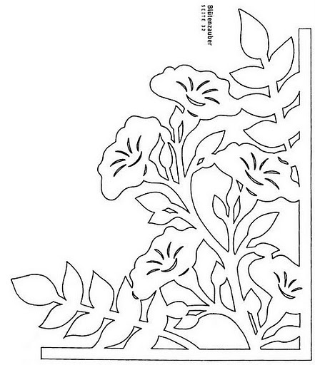 Схемы вытынанки цветов