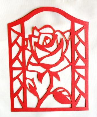 Эта роза вырезалась в качестве