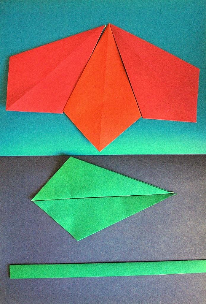 Как сделать оригами из цветной бумаги