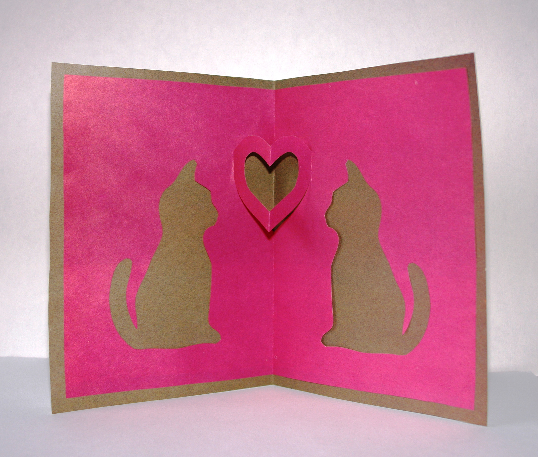 Для, объемная открытка шаблоны кошки