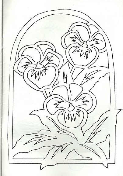 Вытынанки цветов схемы
