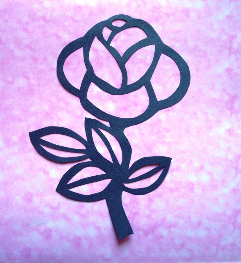 Роза из цветной бумаги своими руками шаблоны - Esremont.ru