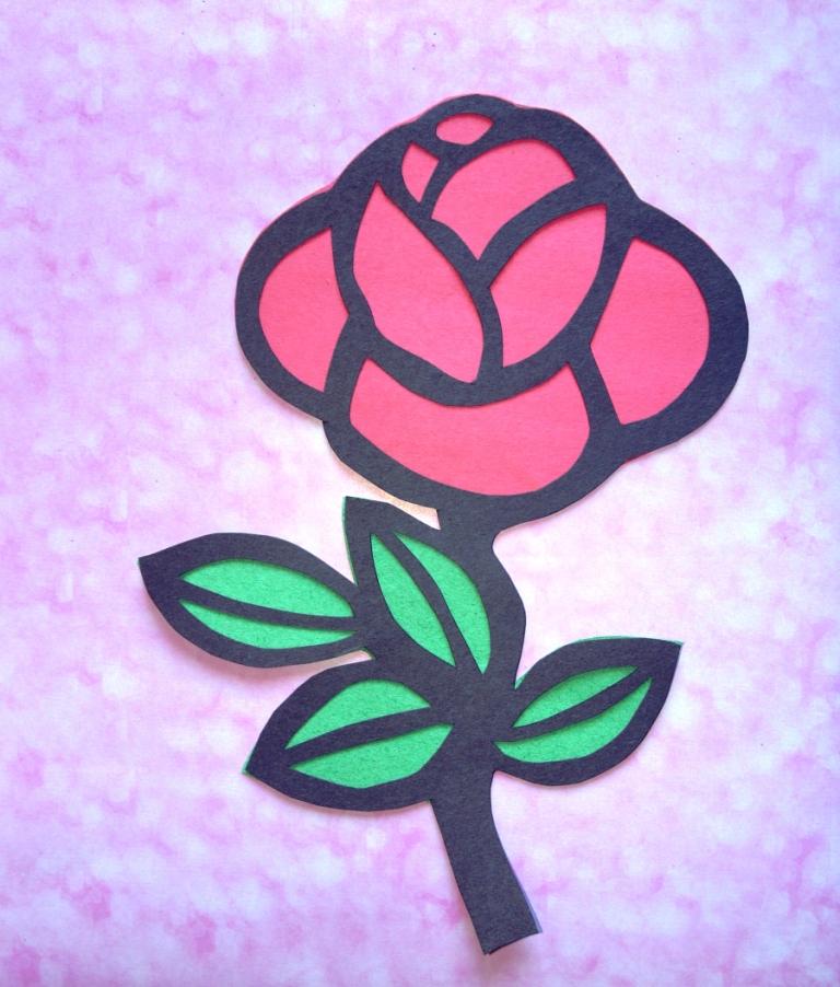 Розы своими руками дети