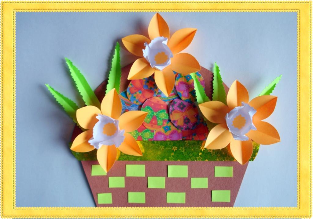 Картинка корзинка для детей шаблоны