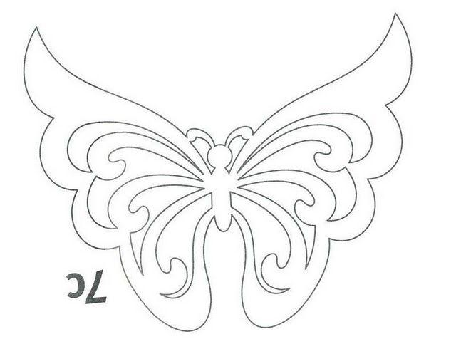 Летние вытынанки — бабочки