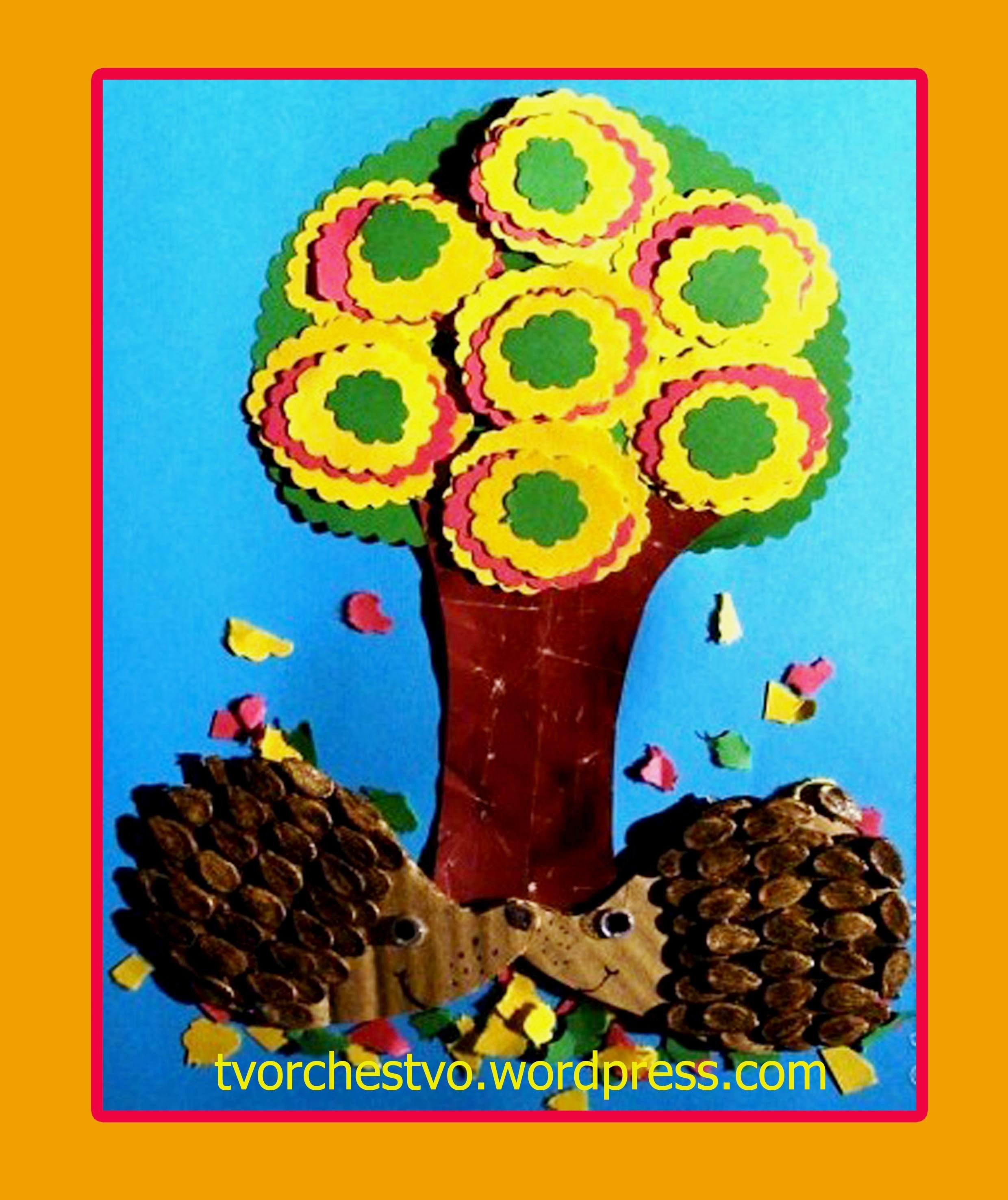 Поделки из арбузных семечек и пластилина - Юлия 86