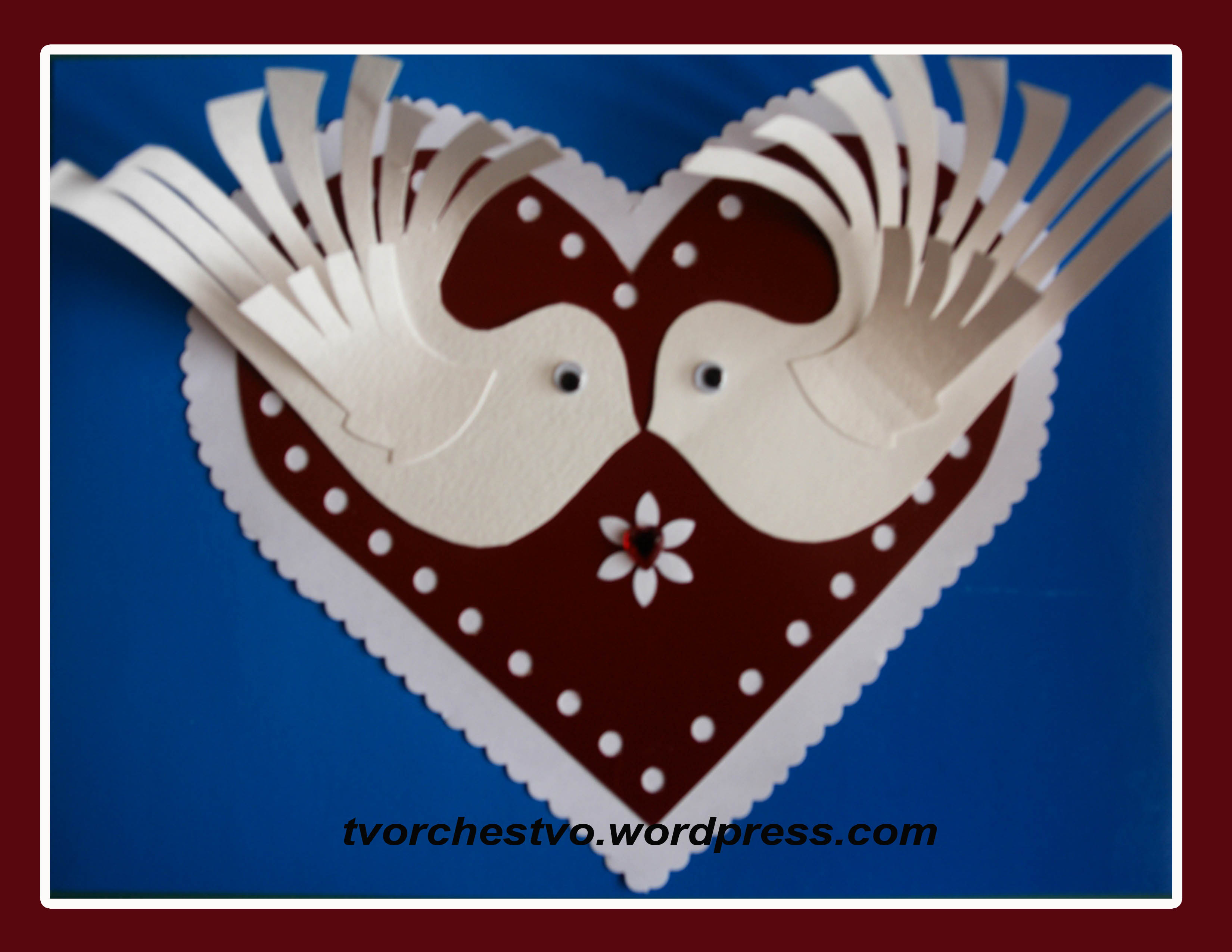 Валентинка с голубями. Обсуждение на