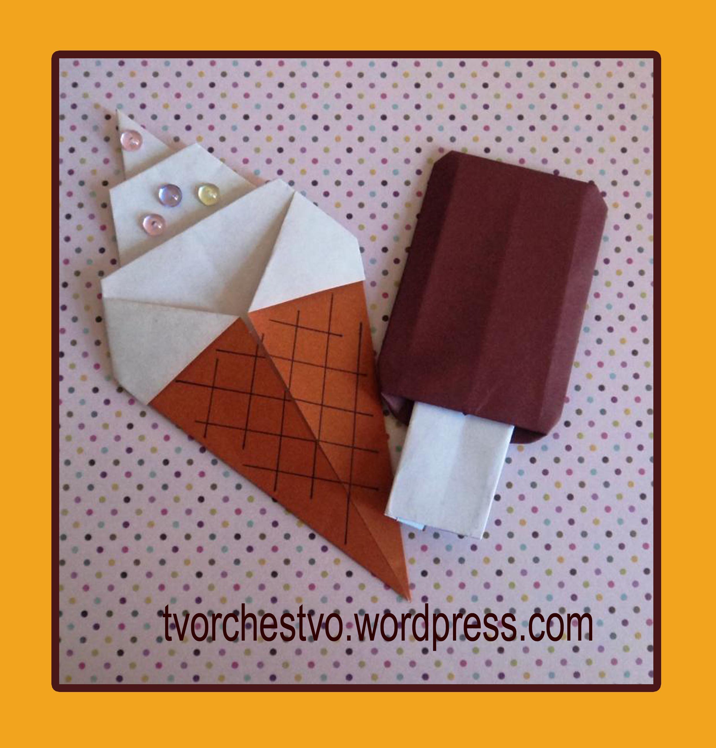 Мороженое на палочке своими руками