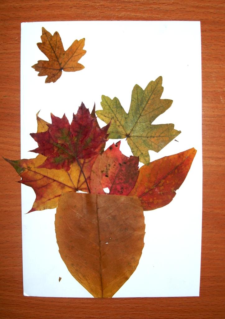 Поделки с листьями 3