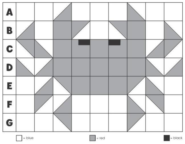 краб мозаика