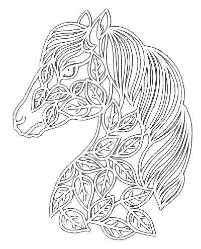 Вырезание из бумаги — Конь в