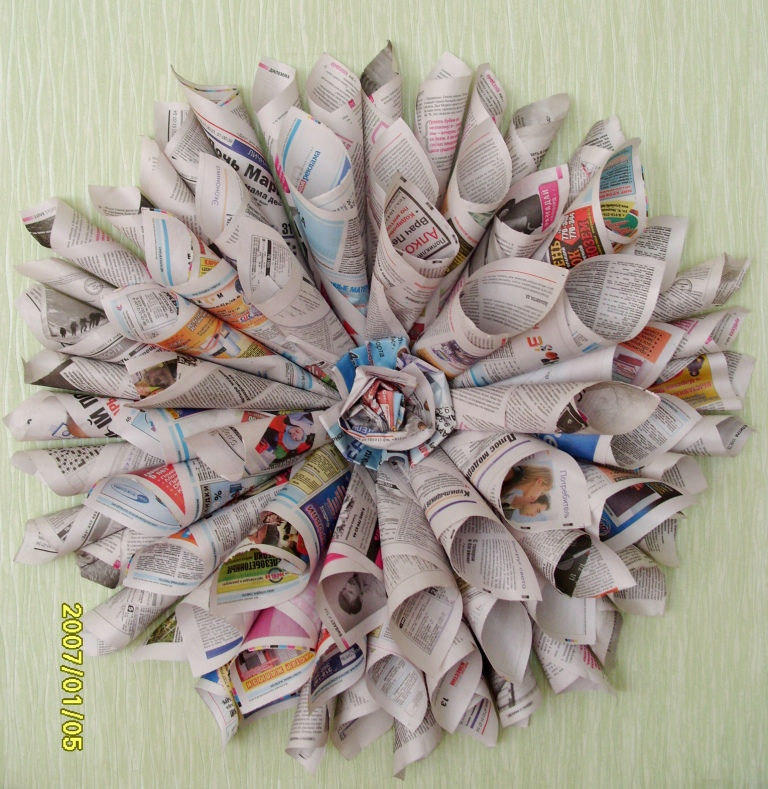 Детские поделки из газеты своими руками 25