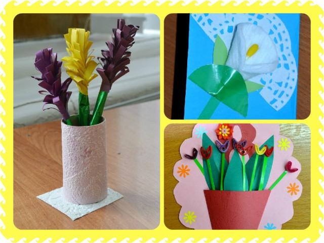 Цветы своими руками сделанные детьми фото 26